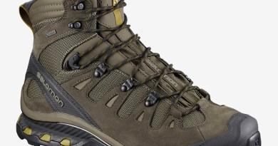 Pánské outdoorové a trekové boty Salomon Quest 4D 3 GTX Wren/Bungee Cord/Green Sulphur 401518 turistická kotníková obuv Salomon