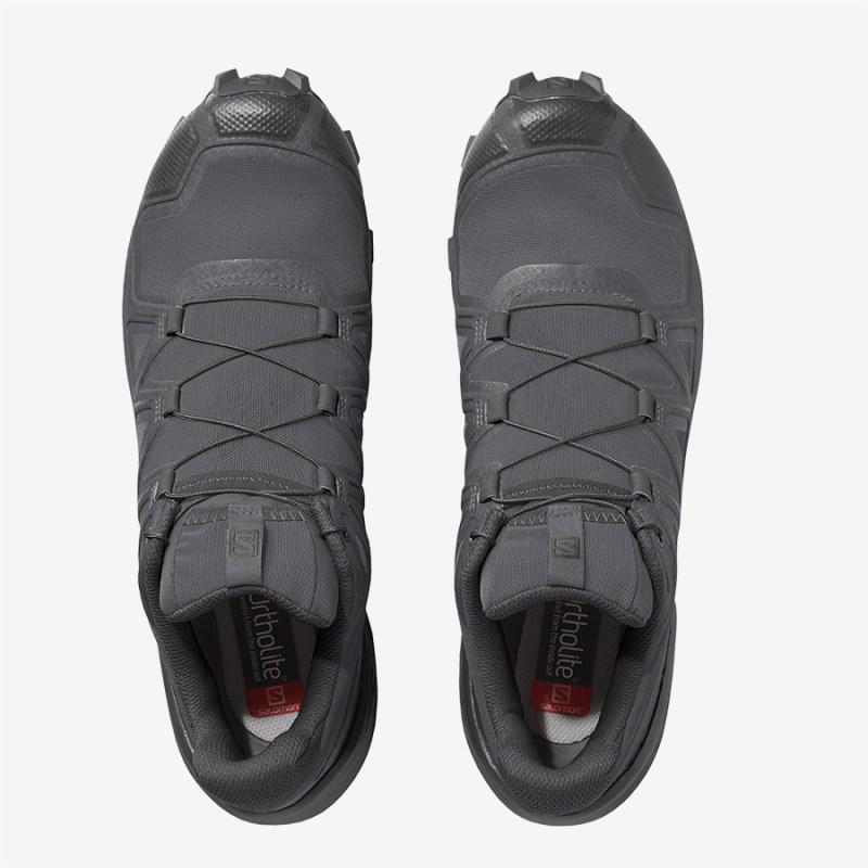 Pánské šedé tenisky a boty Salomon Speedcross 5 Magnet/Black/Phantom 410429 nízké běžecké botasky a obuv Salomon