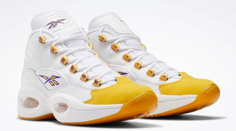 Pánské bílé tenisky Reebok Question Mid White/Purple/White-Yellow FX4278 kotníkové basketbalové boty a obuv Reebok