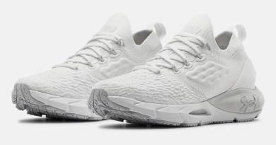 Dámské bílé tenisky a boty Under Armour Hovr Phantom 2 White/White/Halo Gray 3023021-100 nízké běžecké botasky a obuv UA