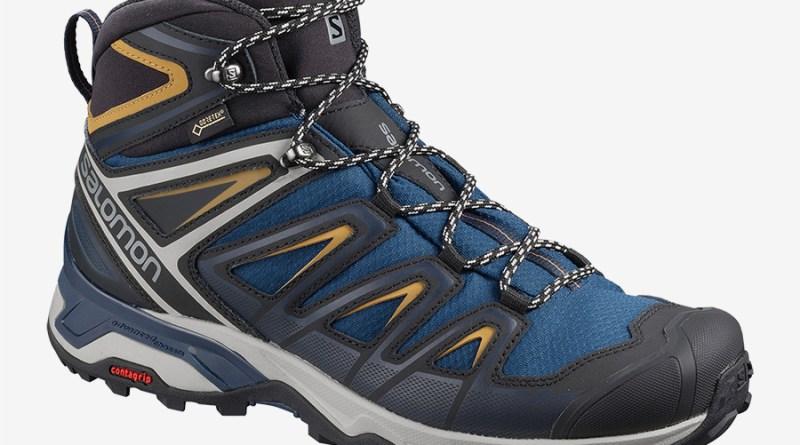 Pánské modré tenisky Salomon X Ultra 3 Mid GTX Sargasso Sea/Dark Sapphire/Bistre 408141 kotníkové turistické boty a obuv Salomon
