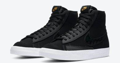 Pánské černé tenisky Nike Blazer Mid Black Gold DD6614-001 vysoké kotníkové boty a obuv Nike