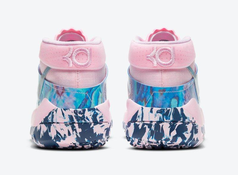 Dámské růžové tenisky Nike KD 13 Pink Foam/Light Arctic Pink/Blue Void DC0011-600 nízké basketbalové boty a obuv Nike