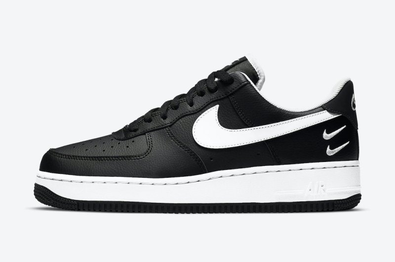 Pánské černé tenisky Nike Air Force 1 Low Core Black/Core White CT2300-001 kožené nízké boty a obuv Nike AF1