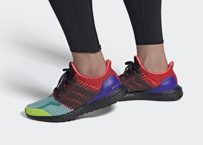 Pánské barevné tenisky a botasky adidas Ultra Boost DNA Solar Slime/Core Black-Night Flash EG5923 nízké běžecké boty a obuv Adidas