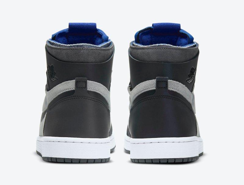 Pánské šedé tenisky Air Jordan 1 Zoom Comfort Iron Grey/Light Smoke Grey-Racer Blue-White DD1453-001 kotníkové boty a obuv Jordan