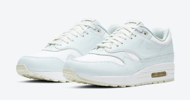 Pánské bílé tenisky a botasky Nike Air Max 1 White/Asparagus DH5493-100 nízké sportovní boty a obuv Nike