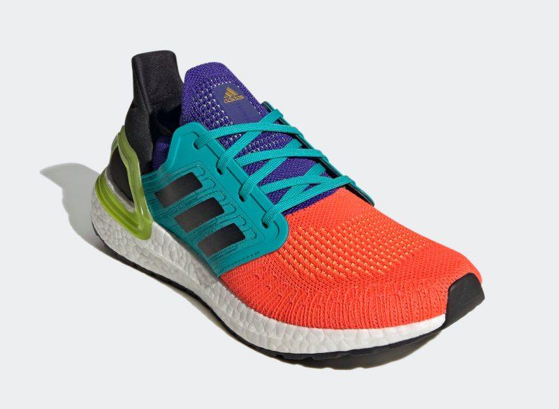 Pánské barevné tenisky a botasky adidas Ultra Boost 2020 Solar Red/Core Black-Gold Metallic FV8331 běžecké boty a obuv Adidas