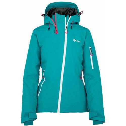 Dámská lyžařská bunda Kilpi Asimetrix W tyrkysová