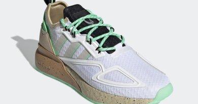 Pánské bílé tenisky a boty Star Wars x adidas ZX 2K Boost Cloud White/Glory Mint-Core Black GZ2760 běžecké botasky a obuv adidas