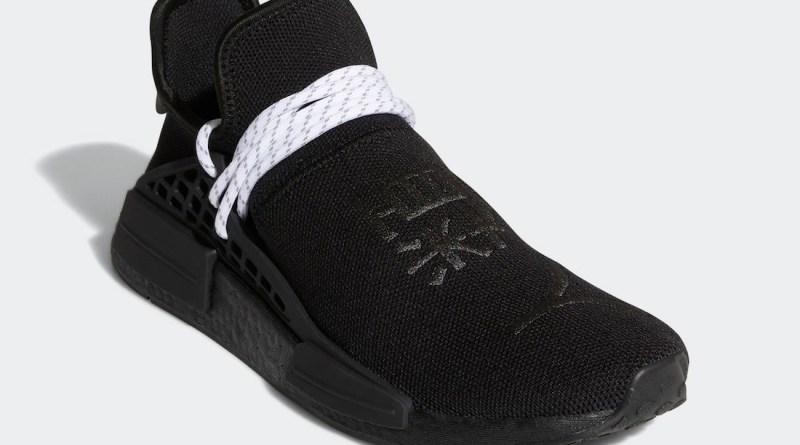 Pánské černé tenisky a boty Pharrell x adidas NMD Hu Black/White/Black GY0093 nízké sportovní botasky a obuv adidas