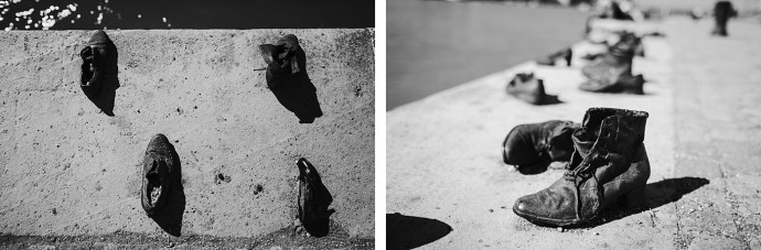image shows budapest river danube shoes mirela bauer photo