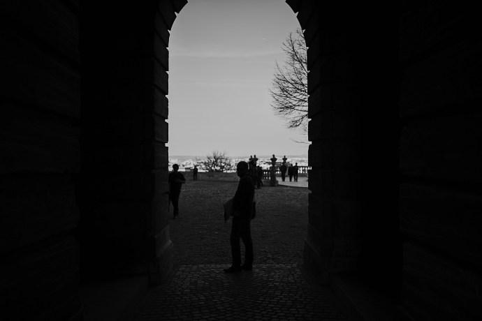 image shows budapest through the door mirela bauer photo