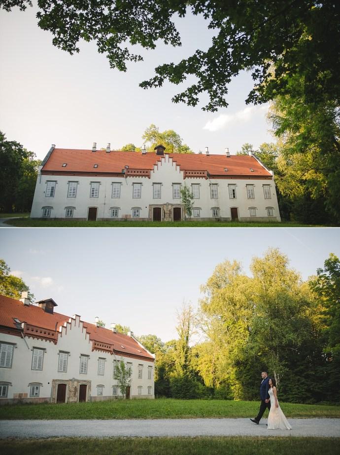 mirela bauer photography touch of love novi dvori wedding session  castle