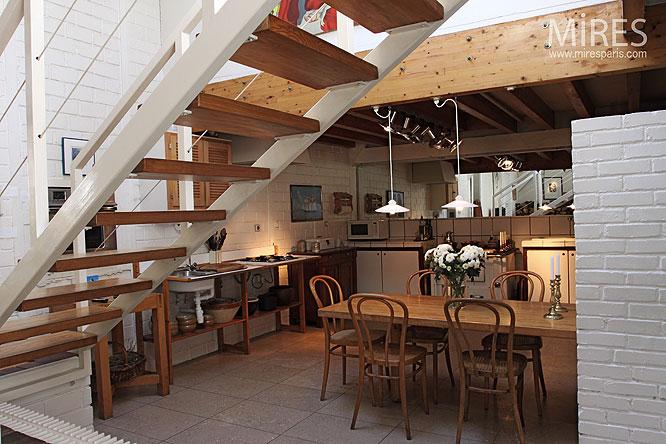 Cuisine Sous Mezzanine C0034 Mires Paris