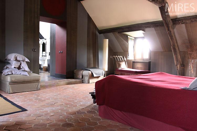 Chambre Moderne Et Tomettes C0535 Mires Paris