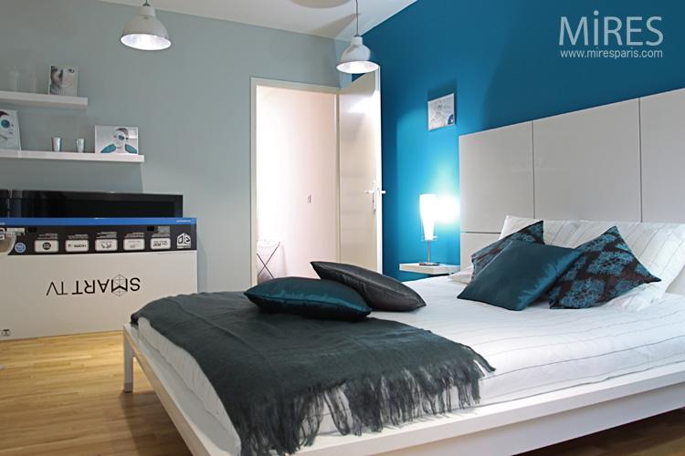 Chambre Bleu Lectrique C0553 Mires Paris