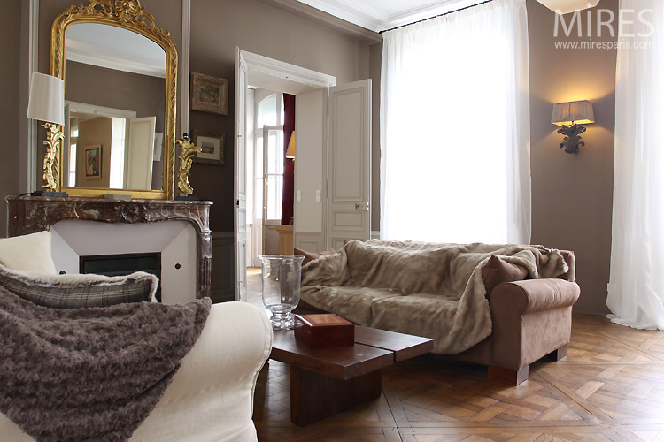 Marron Glac Or Blanc C0550 Mires Paris