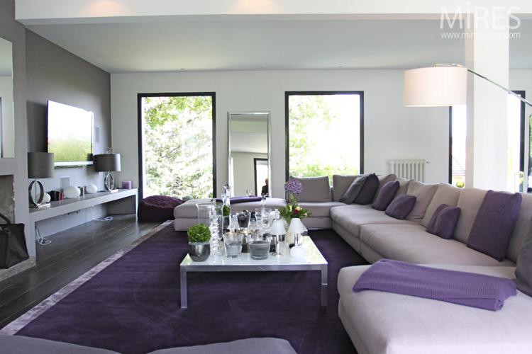 Blanc Beige Et Violet C0067 Mires Paris