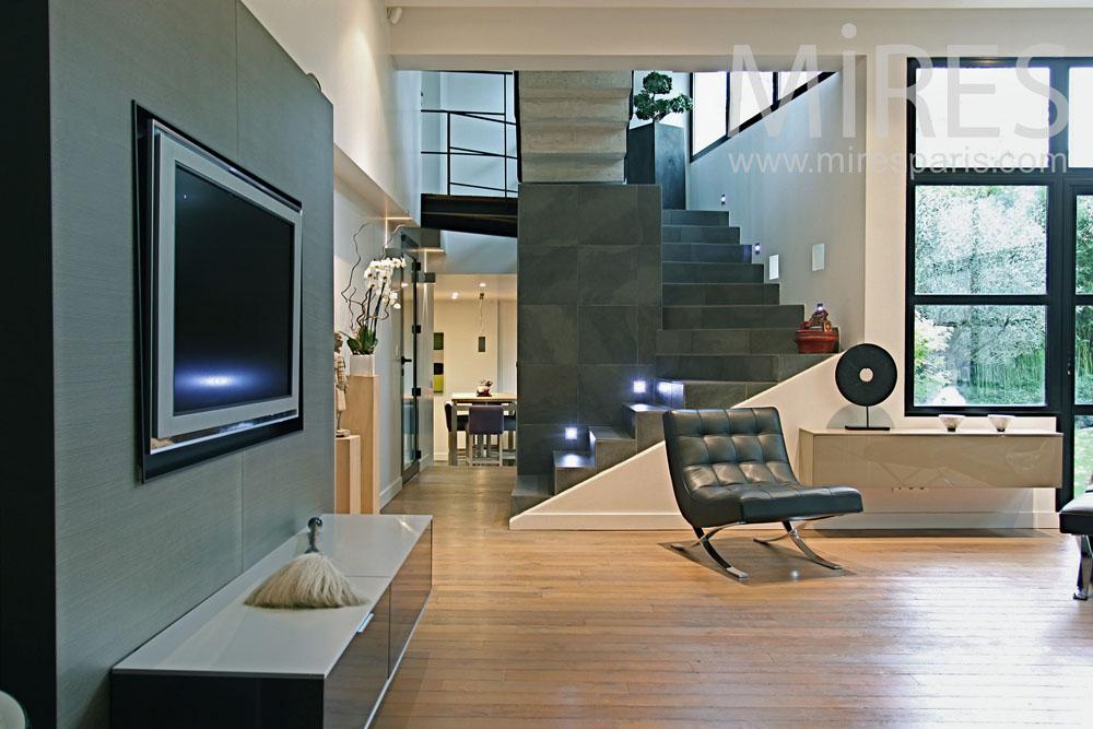 Maison De Ville Moderne Avec Jardin Zen C0777 Mires Paris
