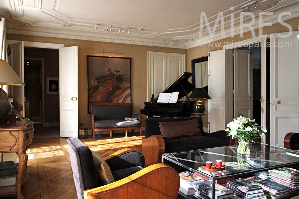 Salon Style Art Dco Avec Un Piano Queue C0851 Mires