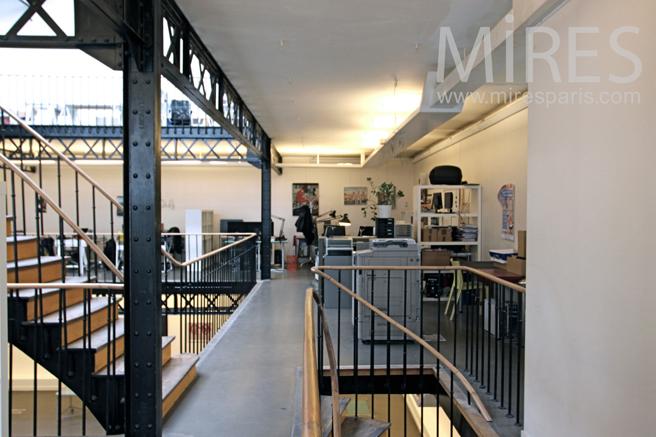 Mezzanine Avec Bureau En Open Space C1181 Mires Paris