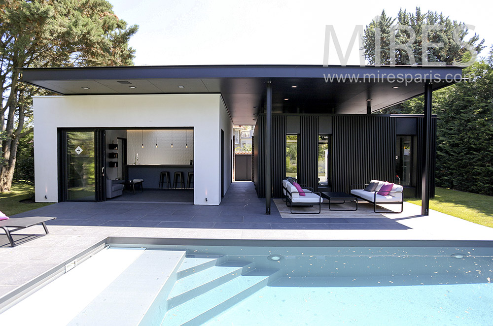 Piscine Et Pool House Moderne C1581 Mires Paris
