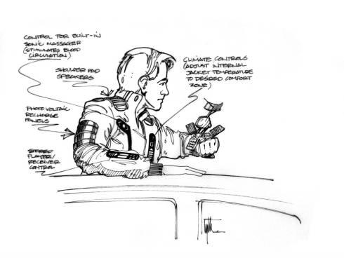 Техника из «Назад в будущее 2» на концепт-артах