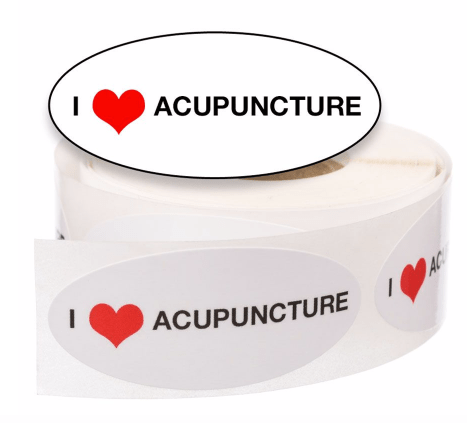 acupuncture gifts: stickers