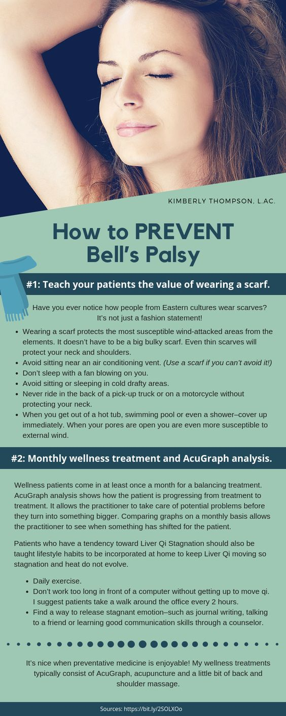 how to prevent bell's palsy