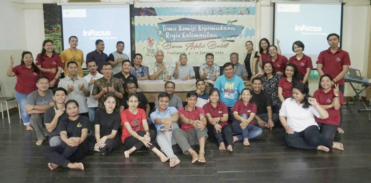 Borneo Youth Day, Komisi Kepemudaan, Komkep-KWI, Komsos KWI, Konferensi Waligereja Indonesia, Mgr. Agustinus Agus, Mgr. Pius Riana Prapdi, OMK, RD.Antonius Haryanto, Regio Kalimantan