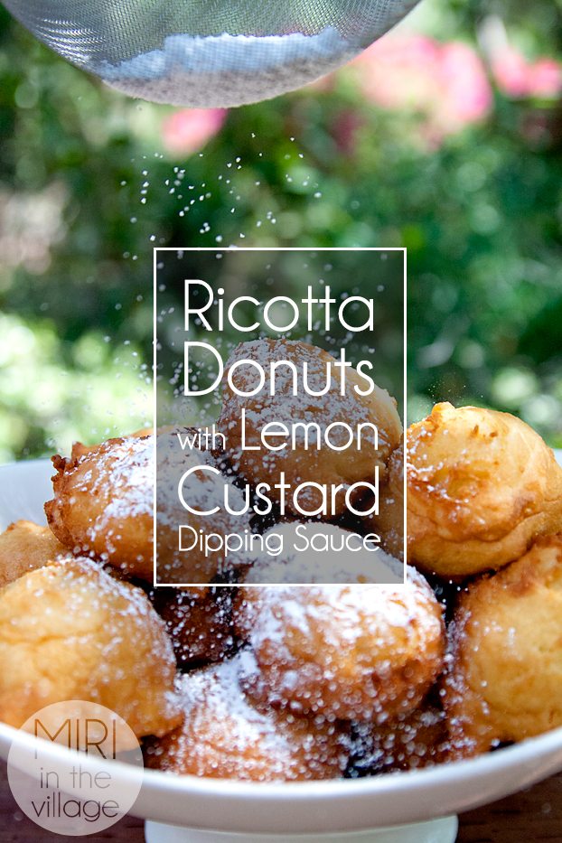 ricotta donuts with lemon curd