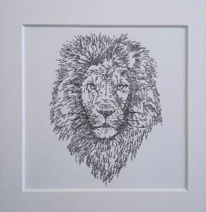 Caligram Lion made with name