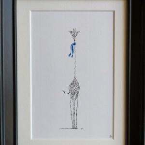 Calligram Giraffe