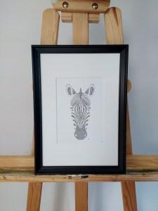 Zebra framed calligram