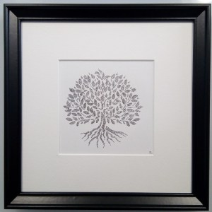 Framed Calligram Family Tree