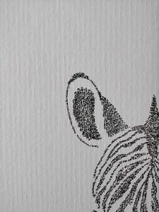 Calligram ear Zebra