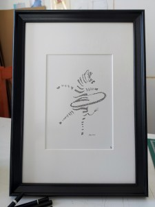 #zebra #dancing framed in black frame