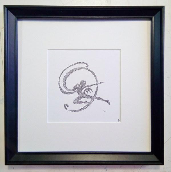 Zodiac Calligram Sagittarius