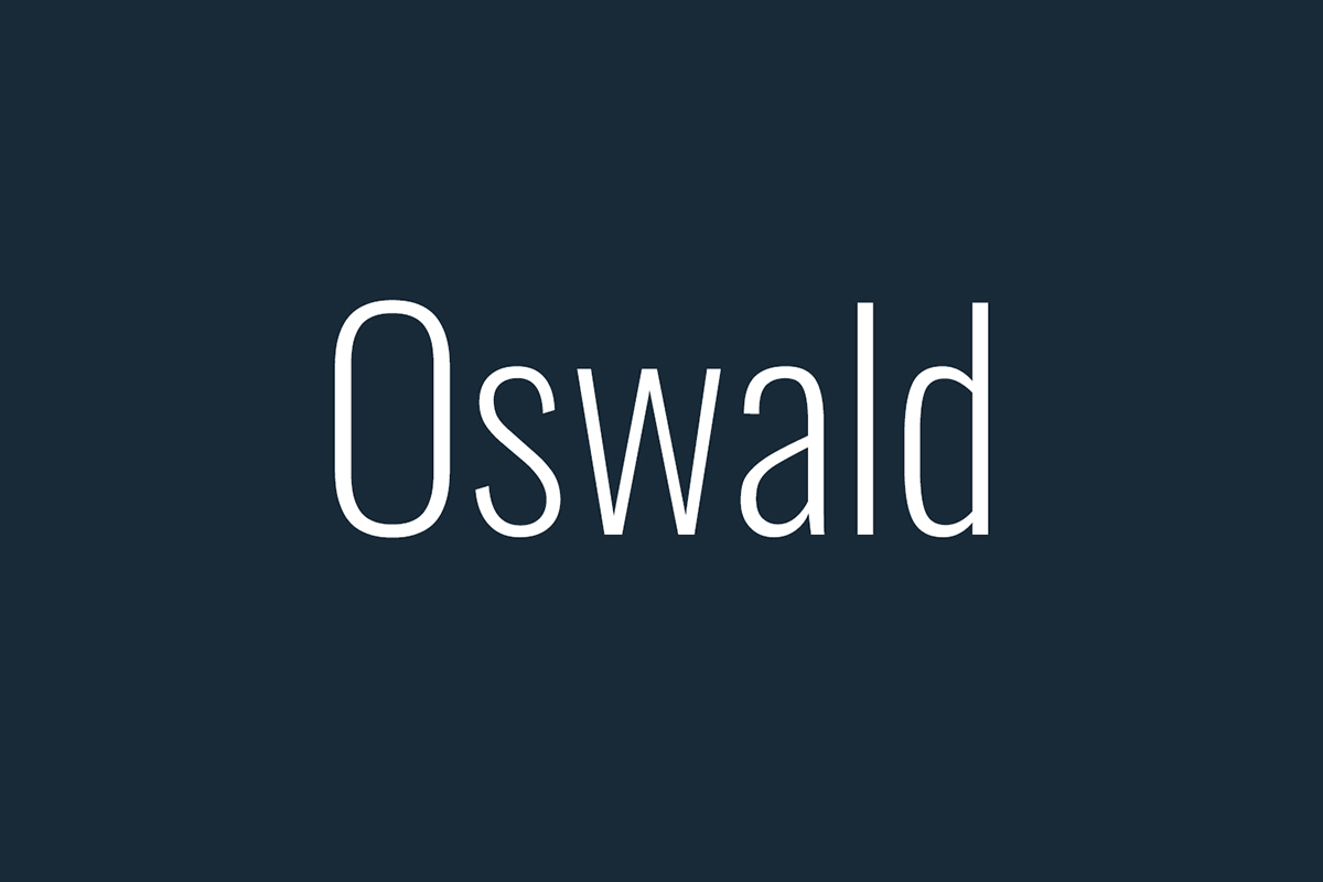 Il font Oswald