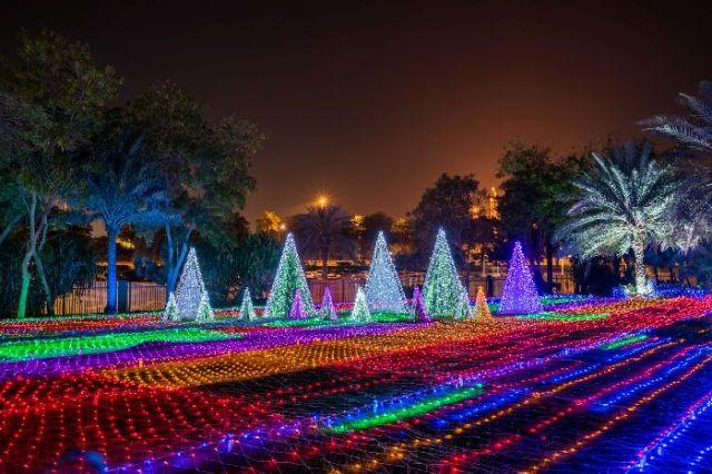 Светящийся сад в Дубаи Dubai Garden Glow