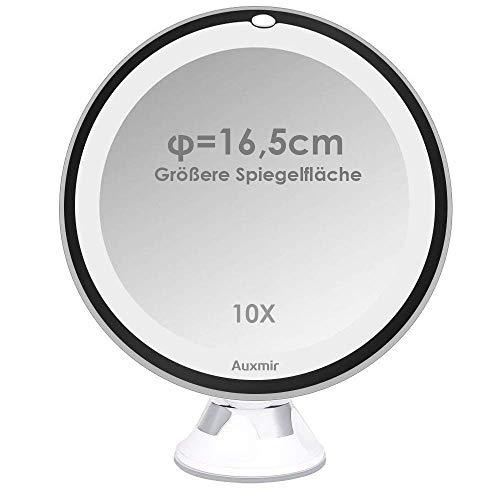 Achat Auxmir Miroirs Grossissant X10 Miroir Maquillage Lumineux Led De Voyage Avec Ventouse