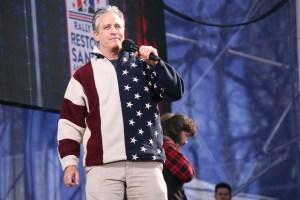 Jon Stewart Hosting the Rally to Restore Sanity in Washington DC in 2010