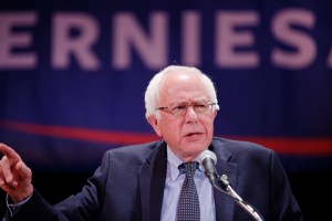 Bernie Sanders at NYC fundraiser for 2016 campaign. Photo by Michael Vadon via Flickr Creative Commons.