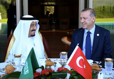 President Erdogan and Saudi King Salman at this Fall's G20 Summit in Antalya.