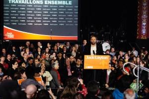 Jack Layton at an NDP Rally https://goo.gl/bNg5B8