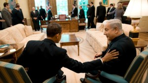 United States president Barack Obama with Israel Prime Minister Benjamin Netenyahu https://www.google.ca/search?site=imghp&tbm=isch&q=obama+and+netenyahu&tbs=sur:fmc&gws_rd=cr&ei=8Cg3WLXTKsHPjwTNz43wCg#gws_rd=cr&imgrc=0Il-uGTRt518fM%3A
