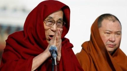 The 14th Dalai Lama speaks to a crowd of thousands at Gandantegchinlen monastery. http://www.dnaindia.com/world/report-dalai-lama-preaches-in-mongolia-risking-china-s-fury-2275112