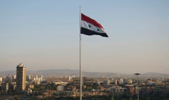 Syrian Flag over the capital Damascus. http://bit.ly/2iWT1Hm