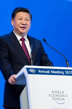Xi Jinping delivering the Opening Plenary Speech at the 2017 World Economic Forum in Davos, Switzerland. https://flic.kr/p/QJBLHG